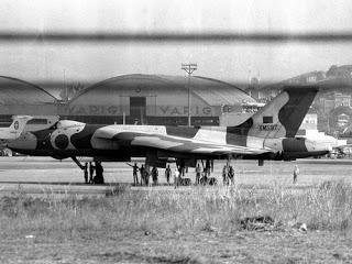 O bombardeiro Vulcan que poderia ter realizado um massacre na Argentina, detido no Galeão pelas autoridades brasileiras