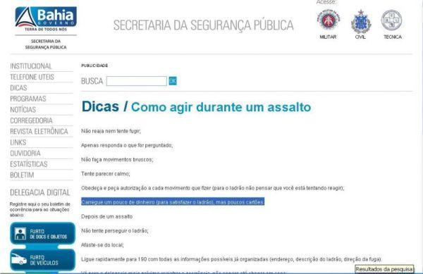 dicas ssp