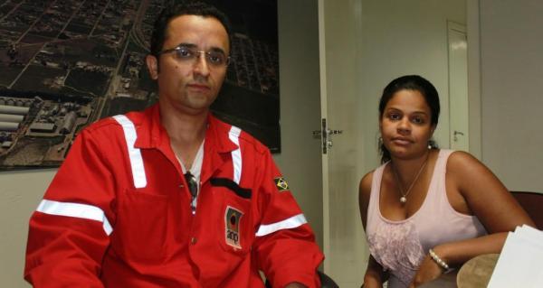 Gustavo Barbosa e Bárbara Ann Lima, das empresas responsáveis pelas sondagens realizadas no Oeste