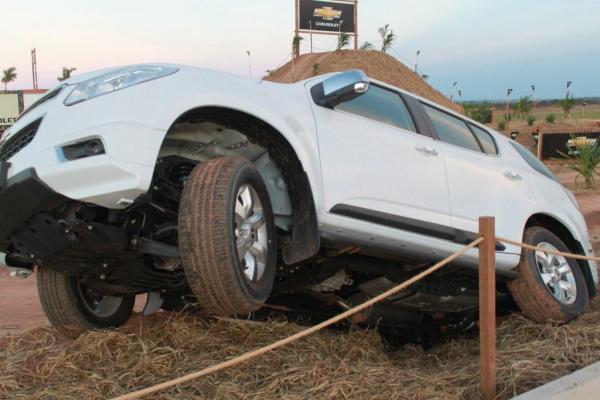 Exposição estática da Trail Blazer também demonstra que é veículo para qualquer terreno.