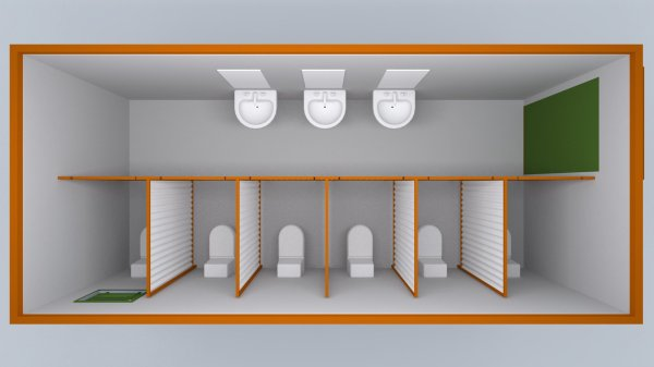 Sanitário visto de cima: vantagens incomparáveis sobre os sanitários químicos em eventos.