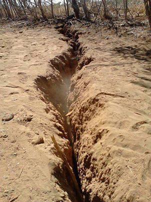 fissuras no solo de Lapão