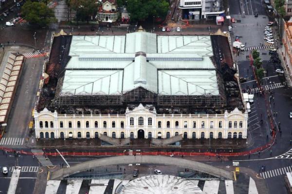 Vista aérea do Mercado: foto de Jefferson Botega, da Agência RBS.