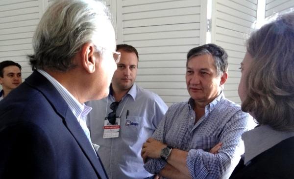 Gilson Pinesso (ABRAPA), Humberto Santa Cruz e Izabel da Cunha (ABAPA): interessados em aproximar pesquisa das lavouras do MATOPIBA.