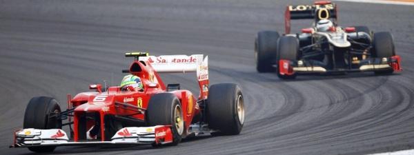 Foto do portal UOL: Massa resistiu o tempo todo ao ataque do seu substituto na Ferrari, Haikkonnen.