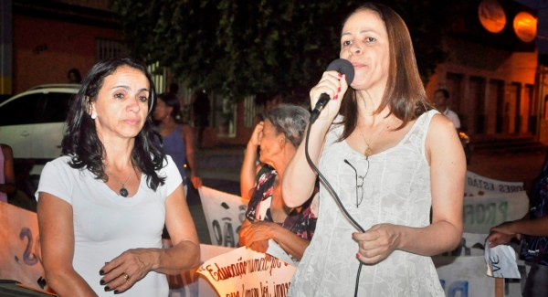 Maria Janete e a deputada  Kelly Magalhães