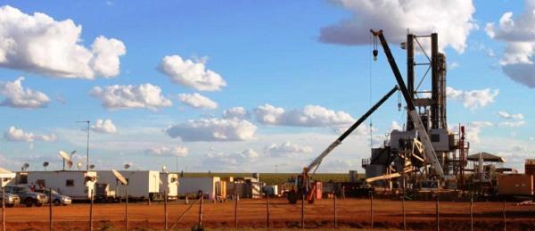 O poço exploratório instalado na Fazenda Vitória, a menos de 15 km de Luís Eduardo Magalhães: perigo a vista.