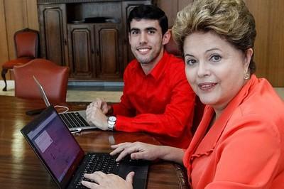 Jeferson e Dilma no Planalto.