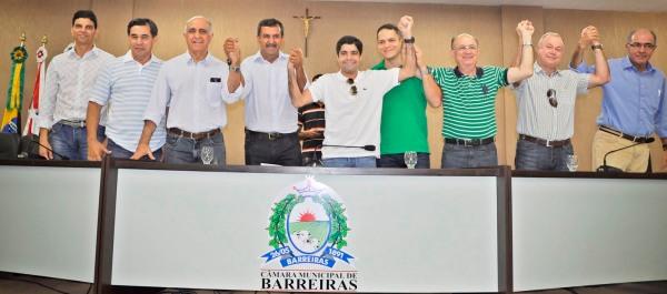 Barreiras, setembro de 2013: os próceres do DEM reúnem-se.