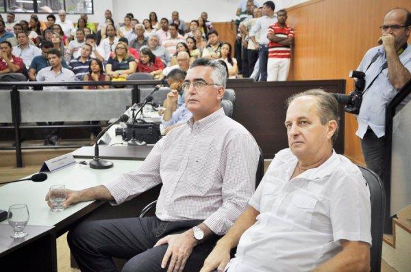 Luciano e Paulo Closs, do DEM de Luís Eduardo