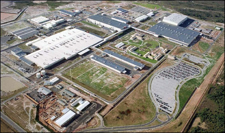 Complexo fabril da Ford em Camaçari