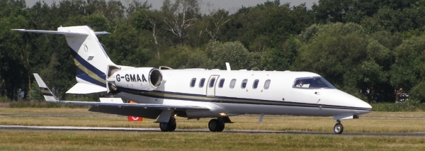 Foto de referência: Learjet 45, semelhante ao envolvido no episódio.
