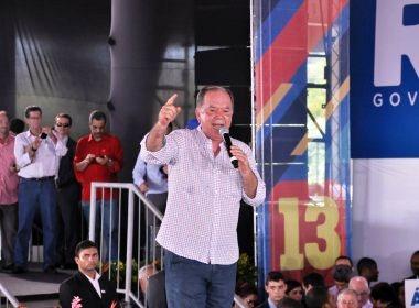 Leão, candidato a vice, discursa aos convencionais