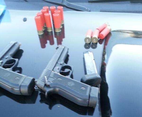 Armas apreendidas pela PM
