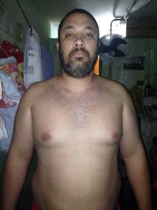 Clóvis preso no complexo policial de Barreiras