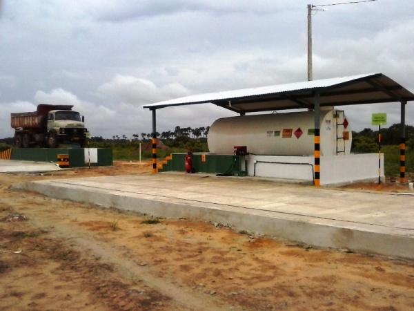 Certificação:  reservatório de combustível sinalizado