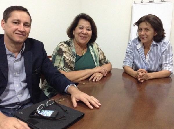 Wagner Pamplona, Eliana Calmon e Regina Figueiredo, na pré-campanha de 2014.
