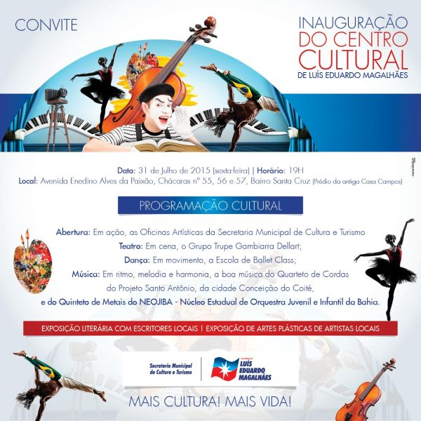 centro cultural convite