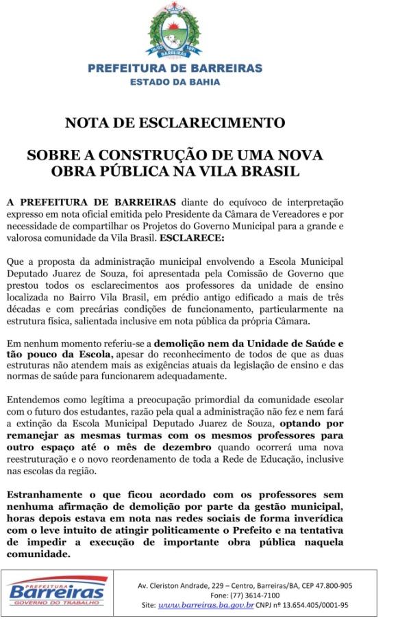 NOTA SOBRE A CONSTRUÇÃO DE OBRA VILA BRASIL-1