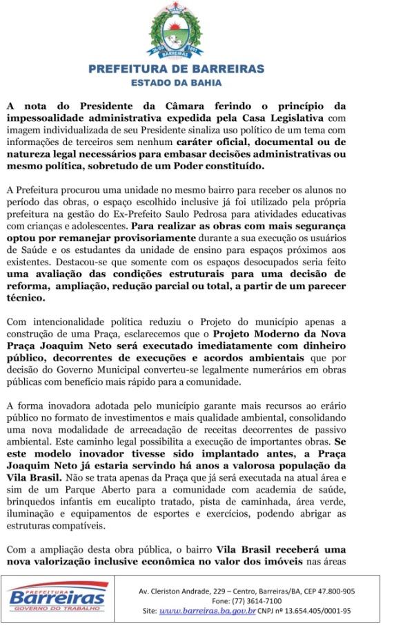 NOTA SOBRE A CONSTRUÇÃO DE OBRA VILA BRASIL-2
