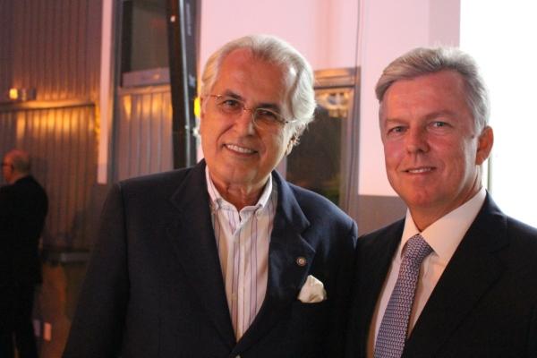 O prefeito Humberto Santa Cruz e o presidente da Gotemburgo, Ricardo Pamplona