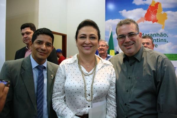 O Prefeito em exercício Marcos Alecrim, a Ministra da Agricultura Kátia Abreu e o Secretário de Saúde Werther Brandão