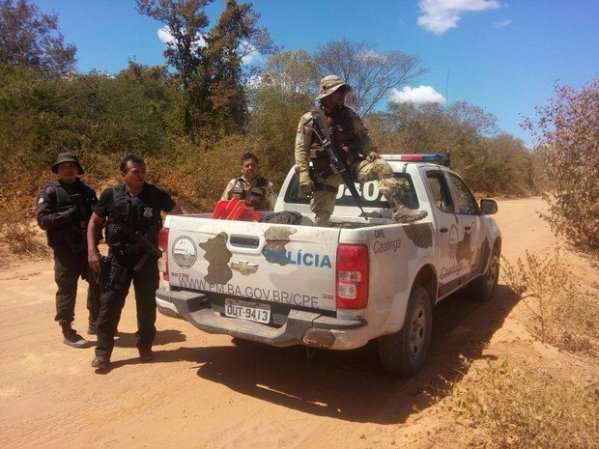 CIPE Caatinga entrou em confronto com o assaltante