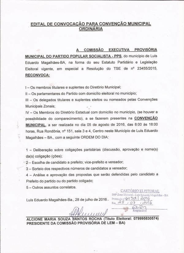 CONVENÇÃO PPS 05-08-2016