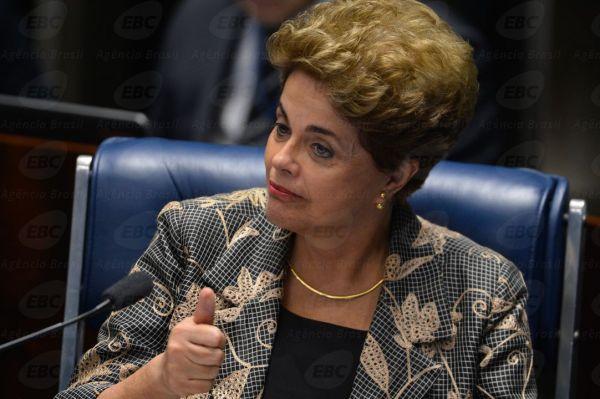 Brasília - Presidente afastada Dilma Rousseff, faz sua defesa durante sessão de julgamento do impeachment no Senado(Fabio Rodrigues Pozzebom/Agência Brasil)