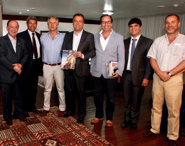 Leão com os empresários portugueses e o governador Rui Costa