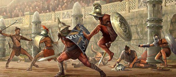 luta-de-gladiadores-imperio-romano-autor-desconhecido