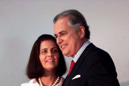Humberto Santa Cruz e Maira, no dia da diplomação do primeiro mandato, em dezembro de 2008