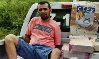 O vereador no dia da sua prisão em flagrante com 300 kg de drogas